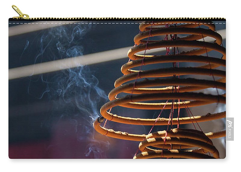 Chinese Culture Carry-all Pouch featuring the photograph Burn Incense And Pray by Greenlin