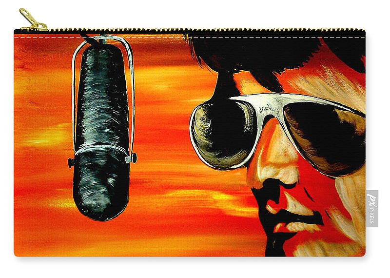 Mark Carry-all Pouch featuring the painting Burning Love by Mark Moore