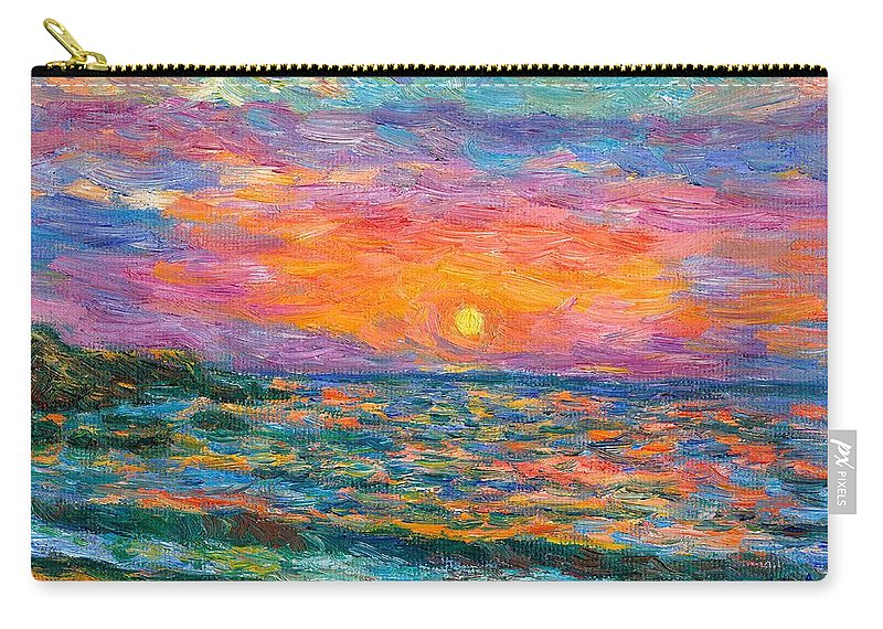 Ocean Carry-all Pouch featuring the painting Burning Shore by Kendall Kessler