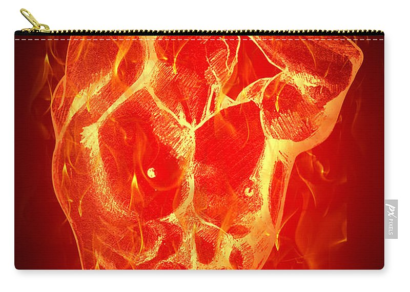 Fire Carry-all Pouch featuring the digital art Burning Up by Mark Ashkenazi