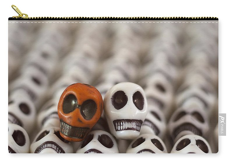 Smiles Carry-all Pouch featuring the photograph Burnt Orange And White by Mike Herdering