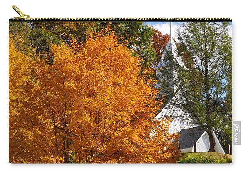 Orange Carry-all Pouch featuring the photograph Burst Of Orange by Christina McKinney
