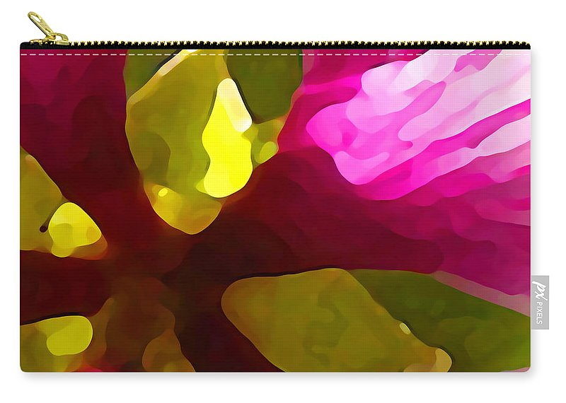Contemporary Carry-all Pouch featuring the painting Burst Of Spring by Amy Vangsgard