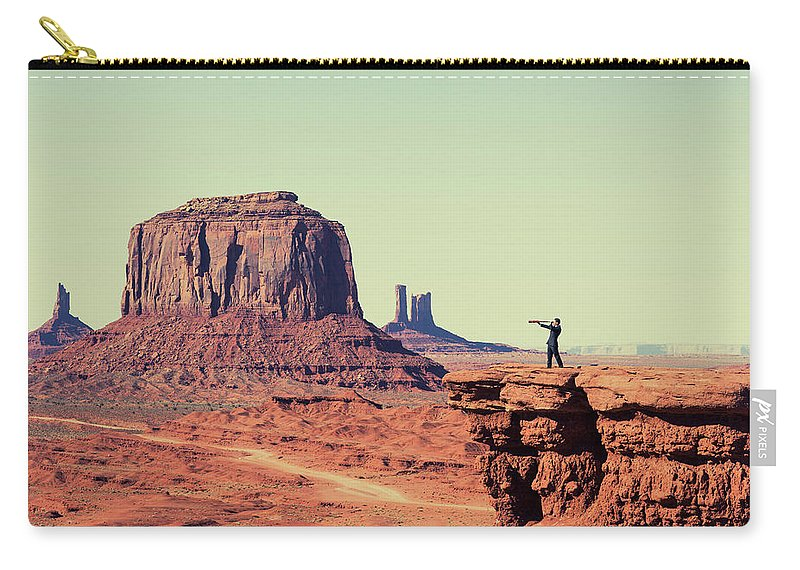 Corporate Business Carry-all Pouch featuring the photograph Business Vision by Richvintage