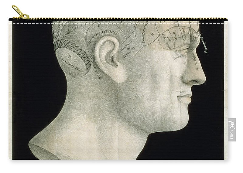 18th Century Carry-all Pouch featuring the photograph Bust Of Johan Spurzsheim by Granger