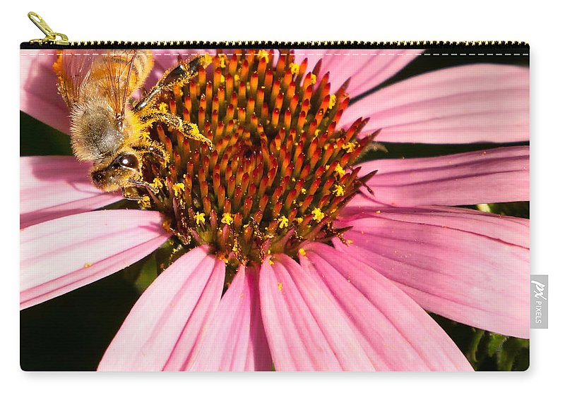 Bee Carry-all Pouch featuring the photograph Busy Bee by Bill Wakeley