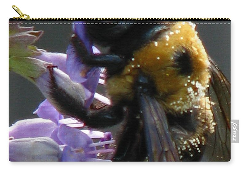 Patzer Carry-all Pouch featuring the photograph Busy Bee by Greg Patzer