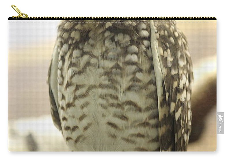 Owl Carry-all Pouch featuring the photograph But Hoo by Tiffany Erdman