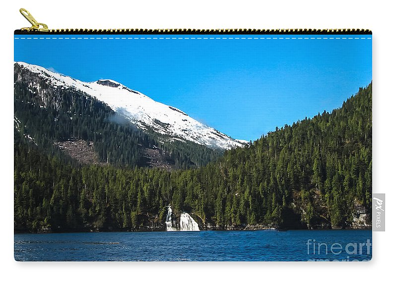 Mountains Carry-all Pouch featuring the photograph Butedale Falls by Robert Bales