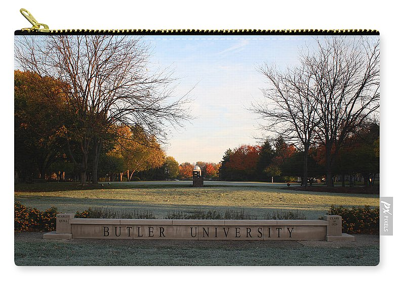 Butler University Carry-all Pouch featuring the photograph Butler University Mall by Dan McCafferty