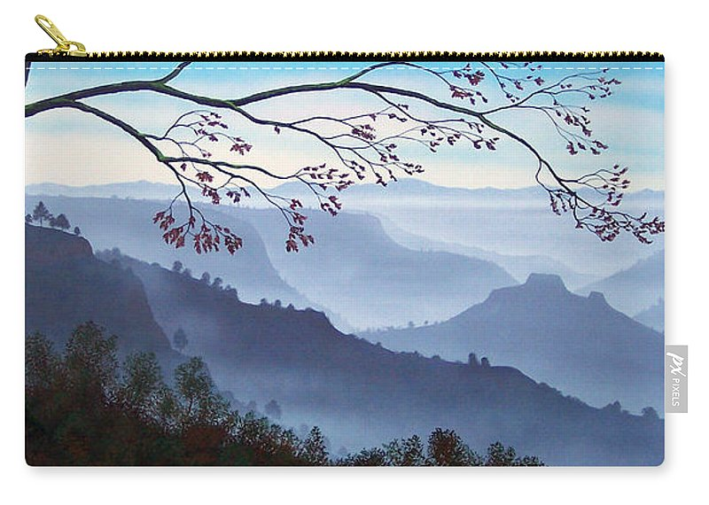 Mural Carry-all Pouch featuring the painting Butte Creek Canyon Mural by Frank Wilson