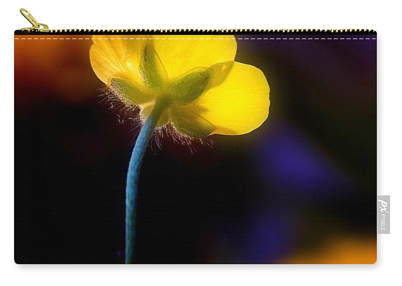Buttercup Carry-all Pouch featuring the photograph Buttercup Baby... by Arthur Miller