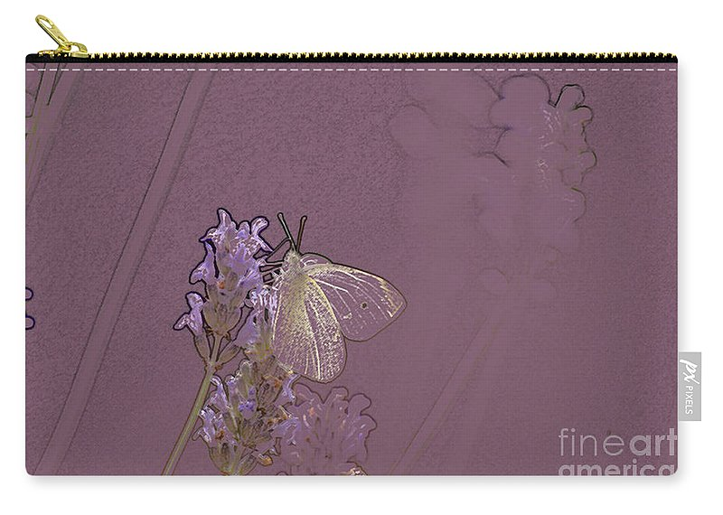 Butterfly Carry-all Pouch featuring the digital art Butterfly 1 by Carol Lynch