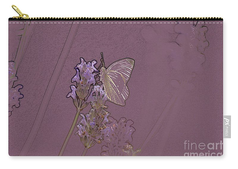 Butterfly Carry-all Pouch featuring the digital art Butterfly 2 by Carol Lynch