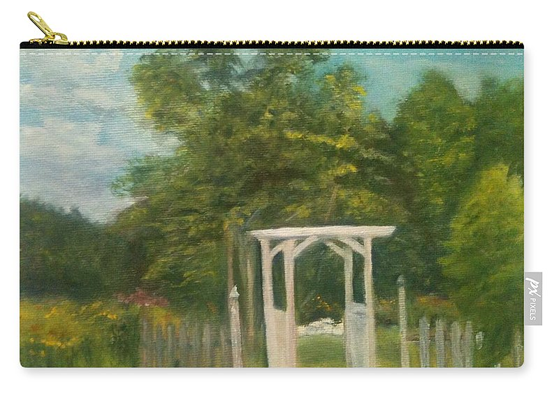 Sheila Mashaw Carry-all Pouch featuring the painting Butterfly Garden by Sheila Mashaw