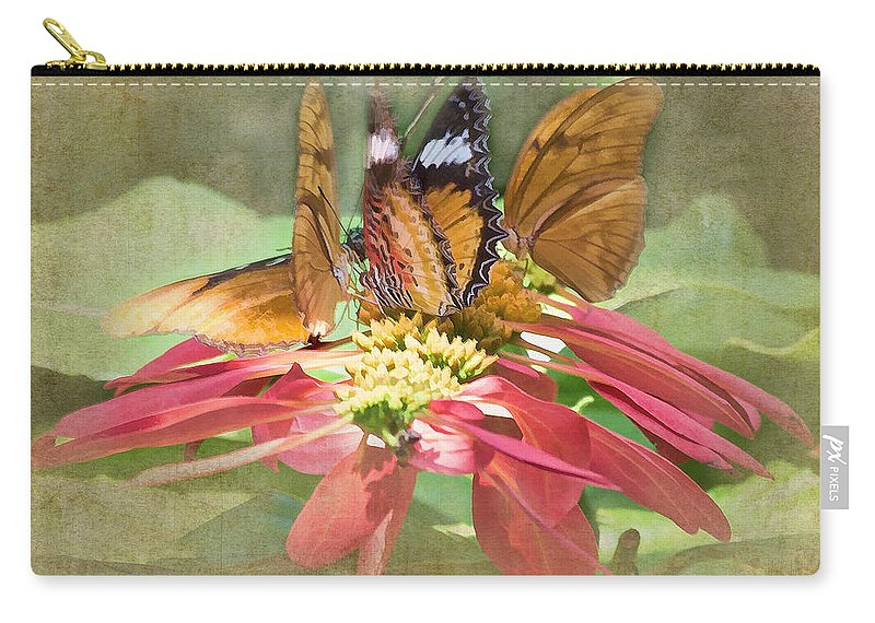 Butterfly Carry-all Pouch featuring the photograph Butterfly Gathering by TN Fairey