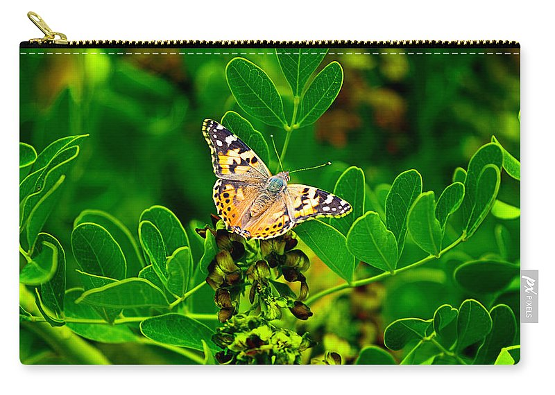 Beauty Carry-all Pouch featuring the photograph Butterfly In Paradise by Gunter Nezhoda