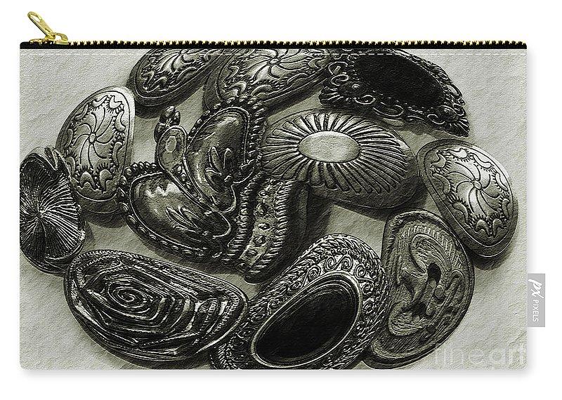 Buttons Carry-all Pouch featuring the photograph Button Dance by Jean OKeeffe Macro Abundance Art