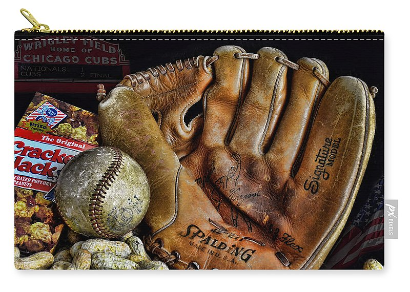 Baseball Carry-all Pouch featuring the photograph Buy Me Some Peanuts And Cracker Jacks by Ken Smith