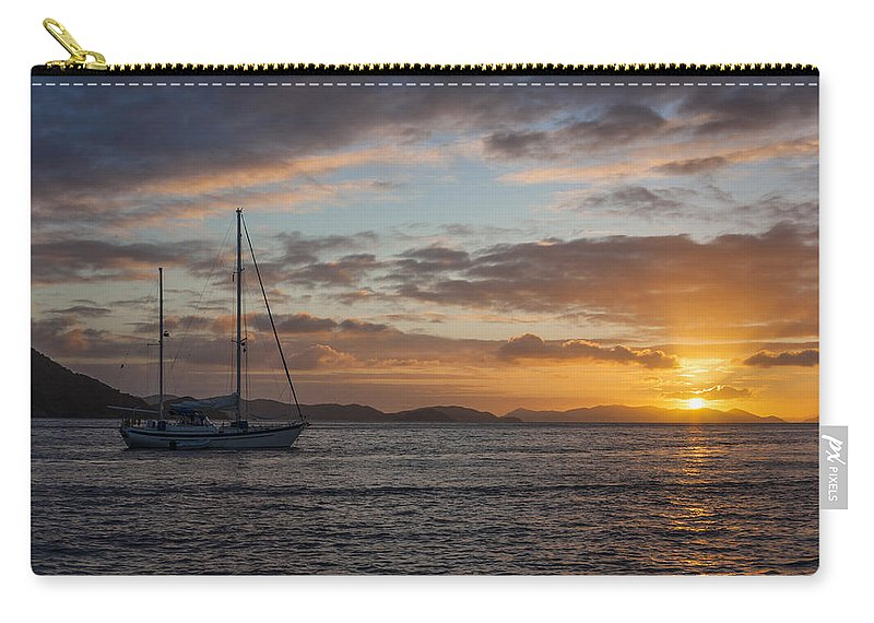 3scape Carry-all Pouch featuring the photograph Bvi Sunset by Adam Romanowicz