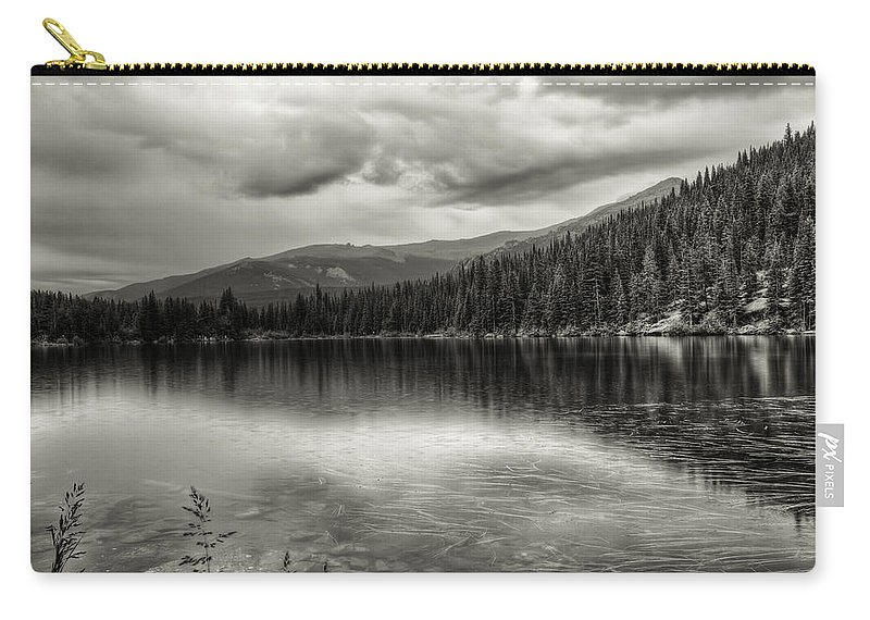 Bear Lake Carry-all Pouch featuring the photograph Bw Bear Lake by Scott Wood