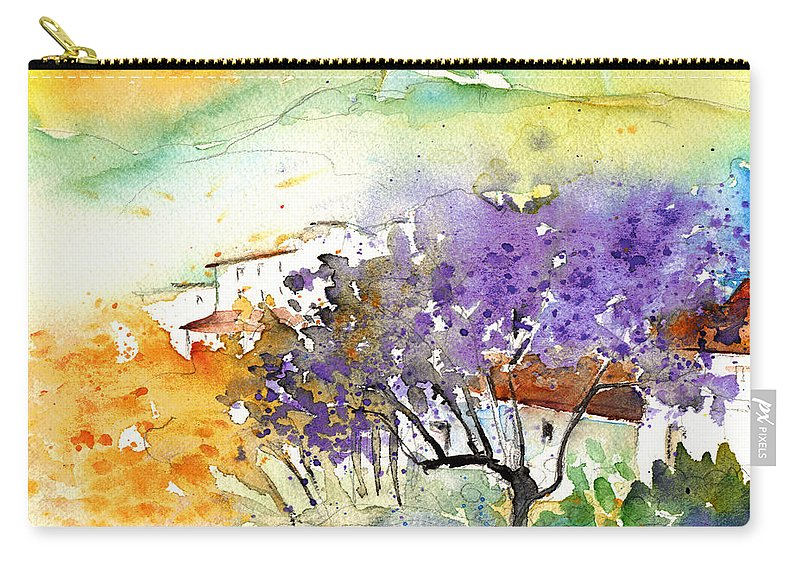 Watercolour Carry-all Pouch featuring the painting By Teruel Spain 01 by Miki De Goodaboom
