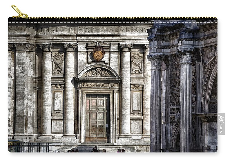Ancient Carry-all Pouch featuring the photograph By The Arch by Joan Carroll