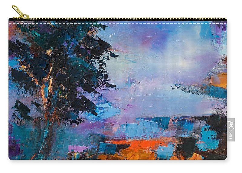 Elise Palmigiani Carry-all Pouch featuring the painting By The Canyon by Elise Palmigiani