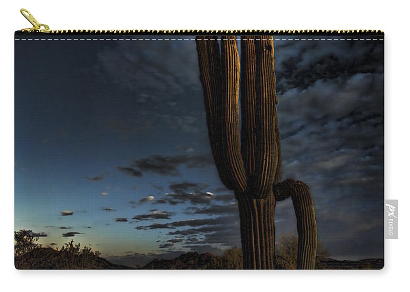 Moon Carry-all Pouch featuring the photograph By The Light Of The Moon by Saija Lehtonen