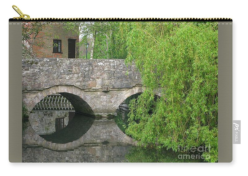 England Carry-all Pouch featuring the photograph By The Old Mill Stream by Ann Horn