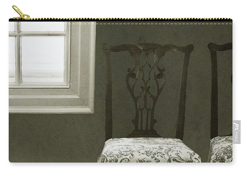 Chairs Carry-all Pouch featuring the photograph By The Window by Margie Hurwich