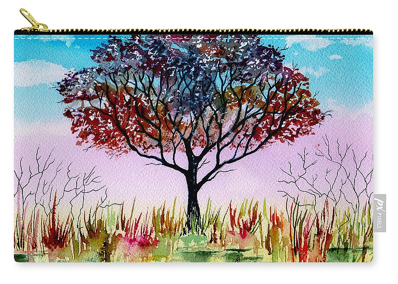 Landscape Waterscape Carry-all Pouch featuring the painting By Water's Edge by Brenda Owen