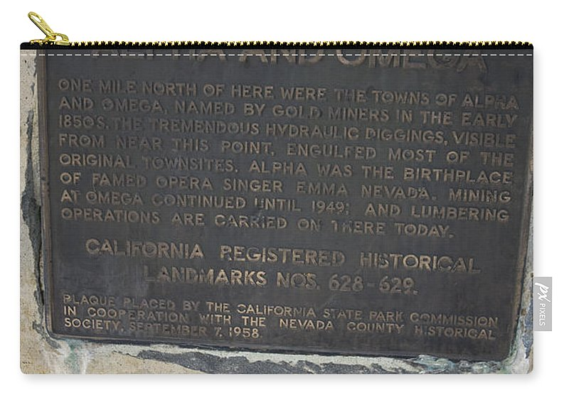 Travel Carry-all Pouch featuring the photograph Ca-628-629 Alpha And Omega by Jason O Watson