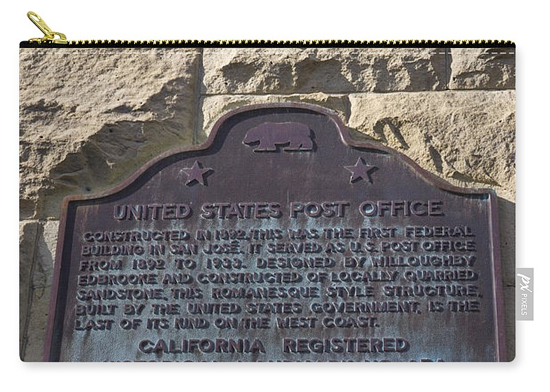 Travel Carry-all Pouch featuring the photograph Ca-854 United States Post Office by Jason O Watson