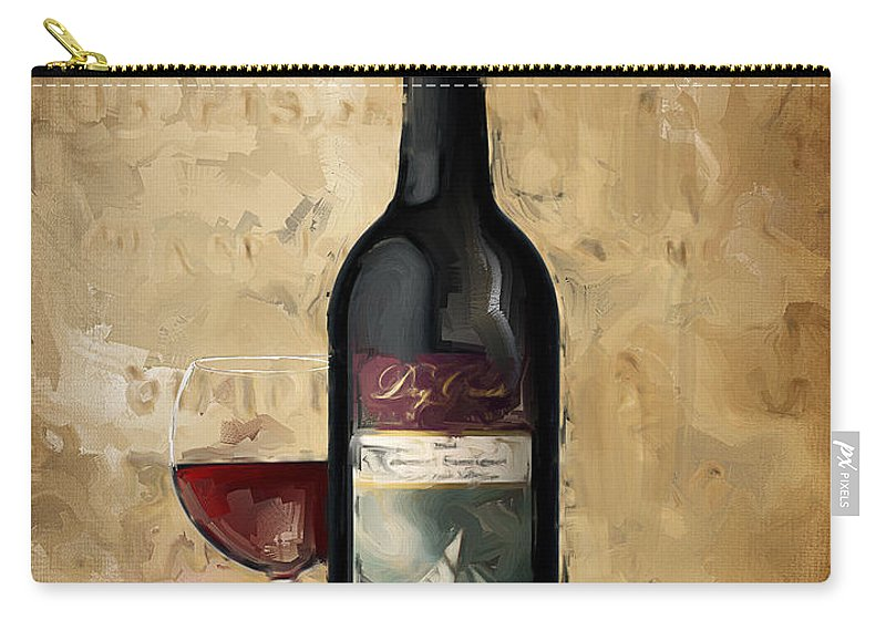 Wine Carry-all Pouch featuring the painting Cabernet Iv by Lourry Legarde