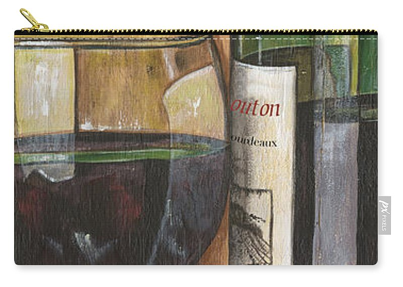 Cabernet Carry-all Pouch featuring the painting Cabernet Sauvignon by Debbie DeWitt