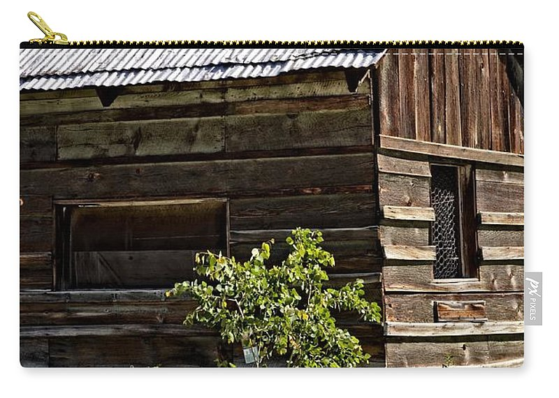 Idaho City Carry-all Pouch featuring the photograph Cabin In The Wilderness by Image Takers Photography LLC - Laura Morgan and Carol Haddon