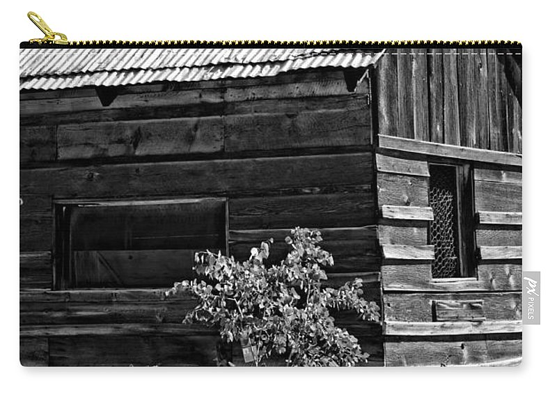 Idaho City Carry-all Pouch featuring the photograph Cabin In The Wilderness by Image Takers Photography LLC