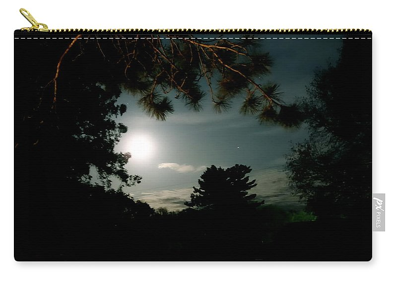 Up North Carry-all Pouch featuring the photograph Cabin Moon by Jacqueline Athmann