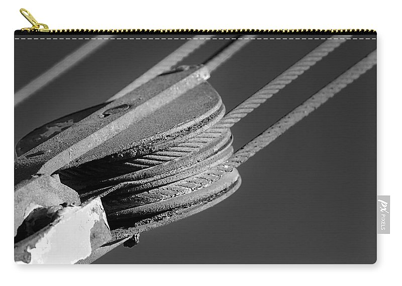 Cables Carry-all Pouch featuring the photograph Cables And Pulleys by Phyllis Denton