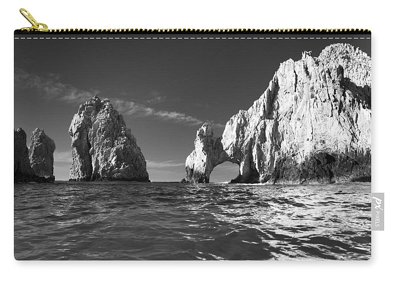 Los Cabos Carry-all Pouch featuring the photograph Cabo In Black And White by Sebastian Musial