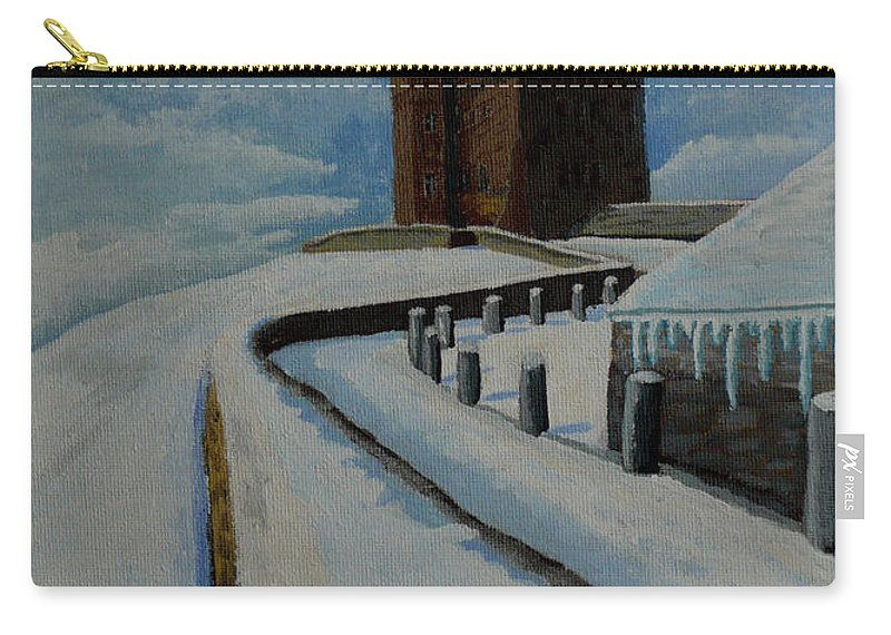 Landscape Carry-all Pouch featuring the painting Cabot Tower Newfoundland by Anthony Dunphy