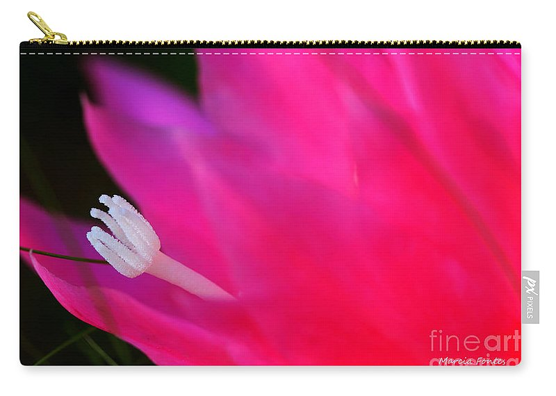 Flower Carry-all Pouch featuring the photograph Cactus Flower Summer Bloom by Tap On Photo