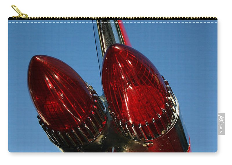 Crusin Grand Carry-all Pouch featuring the photograph Caddie Lights by Guy Shultz