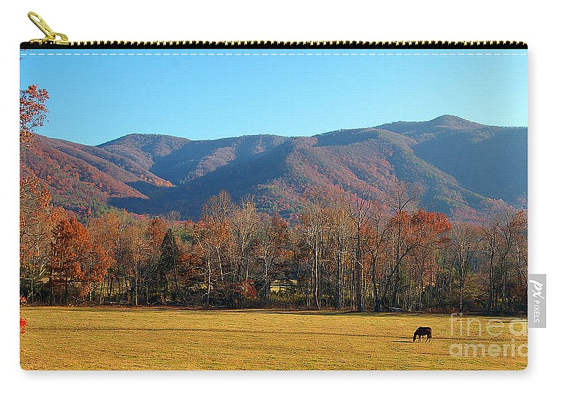 Fall Carry-all Pouch featuring the photograph Cades Cove Loop 2 by Nancy L Marshall
