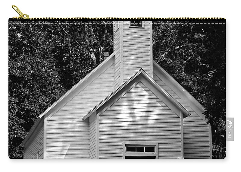 Great Smoky Mountains National Park Carry-all Pouch featuring the photograph Cades Cove Missionary Baptist Church by Stephen Stookey
