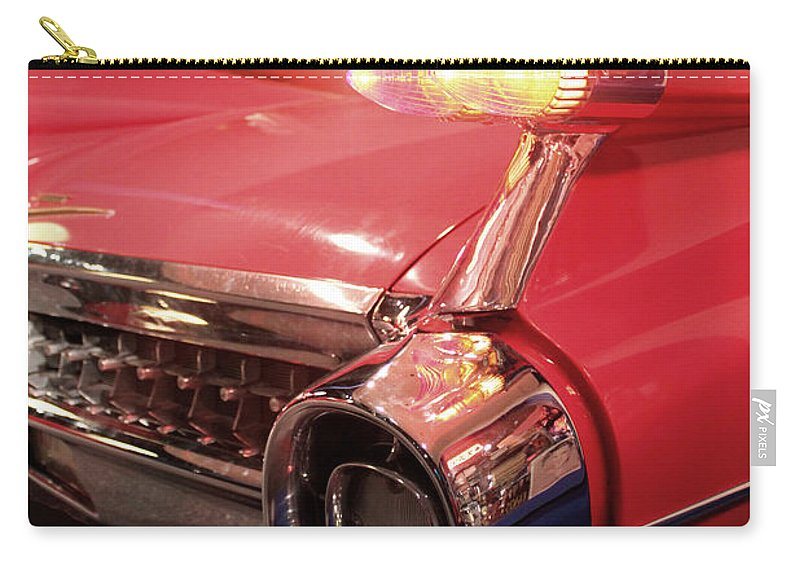 Cadillac Carry-all Pouch featuring the photograph Cadillac Fin Tail by Carlos Diaz