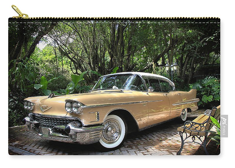 Cadillac Carry-all Pouch featuring the photograph Cadillac by Rudy Umans