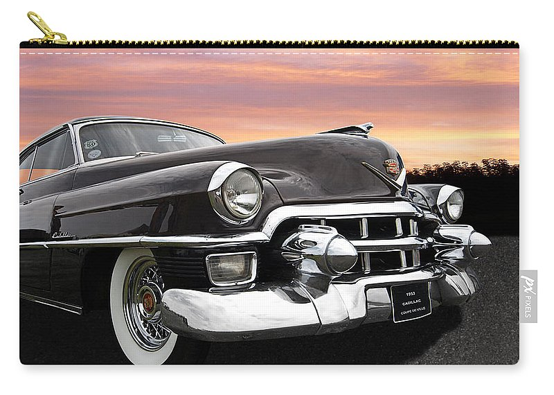 Cadillac Carry-all Pouch featuring the photograph Cadillac Sunset by Gill Billington
