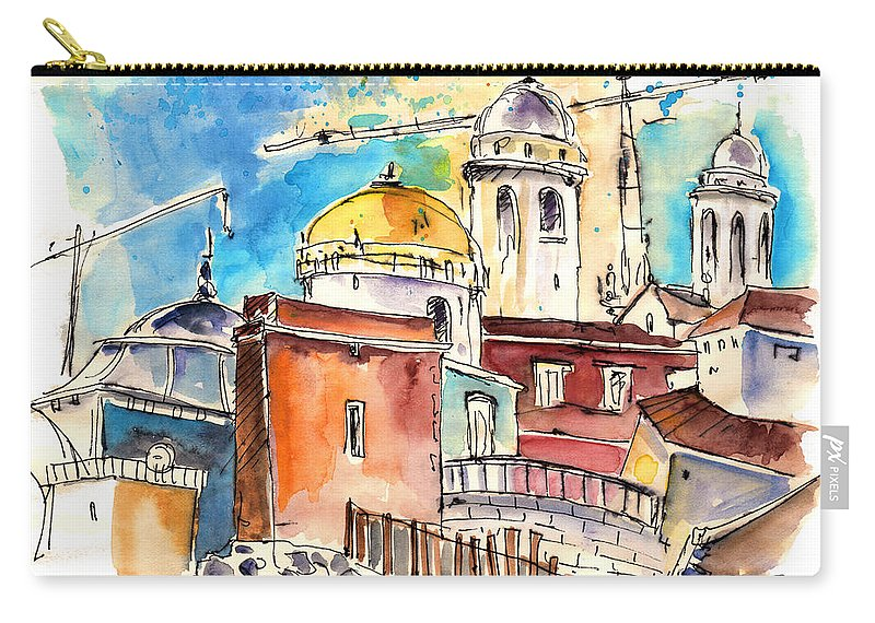 Travel Carry-all Pouch featuring the painting Cadiz Spain 02 by Miki De Goodaboom